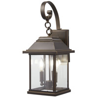 Minka-Lavery Mariner's Pointe 3 Light 22 inch Oil Rubbed Bronze/Gold Outdoor Wall Mount, Great Outdoors 72632-143C - Open Box