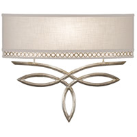 Fine Art Lamps Allegretto Silver 1 Light 18 inch Platinized Silver Leaf Sconce Wall Light 785650ST - Open Box