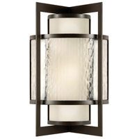 Fine Art Lamps Singapore Moderne Outdoor 2 Light 19 inch Bronze Outdoor Wall Sconce 818181ST - Open Box
