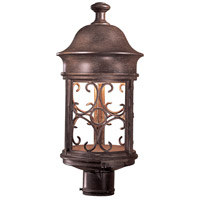 Minka-Lavery Sage Ridge 1 Light 19 inch Vintage Rust Outdoor Post Mount Lantern, The Great Outdoors 8286-A61 - Open Box