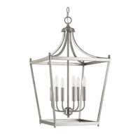 Capital Lighting Stanton 6 Light 17 inch Brushed Nickel Foyer Pendant Ceiling Light  9552BN - Open Box