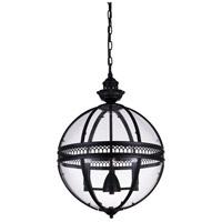 CWI Lighting R-9714P12-3-101 Lune 3 Light 12 inch Black Pendant Ceiling Light 9714P12-3-101 - Open Box