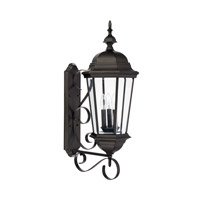 Capital Lighting Carriage House 3 Light 36 inch Old Bronze Outdoor Wall Lantern 9723OB - Open Box