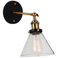 CWI Lighting R-9735W7-1-101 Eustis 1 Light 11 inch Black and Gold Brass Wall Sconce Wall Light 9735W7-1-101 - Open Box