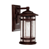 Capital Lighting Mission Hills 1 Light Burnished Bronze Outdoor Wall Lantern 9951BB - Open Box