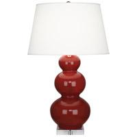 Robert Abbey Triple Gourd 33 inch 150 watt Oxblood Table Lamp Portable Light in Lucite A355X - Open Box
