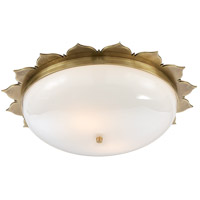 Visual Comfort Alexa Hampton Rachel 2 Light 18 inch Natural Brass Flush Mount Ceiling Light AH4030NB-WG - Open Box