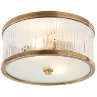 Visual Comfort Alexa Hampton Randolph 2 Light 11 inch Hand-Rubbed Antique Brass Flush Mount Ceiling Light AH4200HAB-FG - Open Box