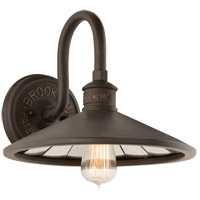 Troy Lighting Brooklyn 1 Light 12 inch Brooklyn Bronze Wall Sconce Wall Light  B3142 - Open Box