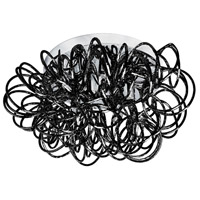 Dainolite R-BAY-144FH-BK Baya LED 15 inch Chrome Flush Mount Ceiling Light in Black BAY-144FH-BK - Open Box