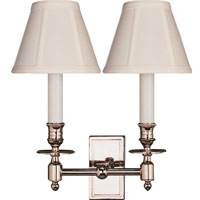 Visual Comfort Double French Library in Polished Nickel with Tissue Shades BB2212PN-T - Open Box