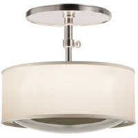 Visual Comfort Barbara Barry Reflection 2 Light 15 inch Soft Silver Hanging Shade Ceiling Light BBL5024SS-S - Open Box