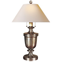Visual Comfort R-CHA8172AN-NP E. F. Chapman Classical 24 inch 40 watt Antique Nickel Decorative Table Lamp Portable Light in Natural Paper