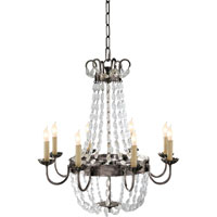 Visual Comfort E. F. Chapman Paris Flea Market 8 Light 24 inch Sheffield Silver Chandelier Ceiling Light CHC1426SHS-SG - Open Box