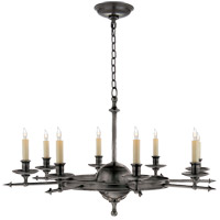 Visual Comfort E.F. Chapman Leaf and Arrow 8 Light Chandelier in Bronze CHC1447BZ - Open Box