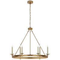 Visual Comfort E. F. Chapman Launceton 6 Light 36 inch Antique-Burnished Brass Chandelier Ceiling Light in Antique Burnished Brass CHC1601AB - Open Box