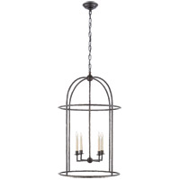 Visual Comfort E. F. Chapman Desmond 4 Light 21 inch Aged Iron Foyer Lantern Ceiling Light, E.F. Chapman, Cage CHC2160AI - Open Box