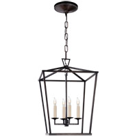 Visual Comfort E.F. Chapman Darlana 4 Light Foyer Pendant in Aged Iron CHC2164AI - Open Box