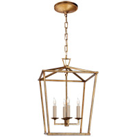 Visual Comfort E.F. Chapman Darlana 4 Light 13-inch Foyer Lantern in Gilded Iron, Small CHC2164GI - Open Box