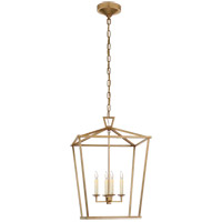 Visual Comfort E. F. Chapman Darlana 4 Light 17 inch Antique-Burnished Brass Foyer Lantern Ceiling Light, Medium CHC2165AB - Open Box