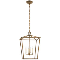 Visual Comfort E.F. Chapman Darlana 4 Light Foyer Lantern in Gilded Iron CHC2165GI - Open Box  photo thumbnail
