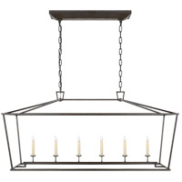 Visual Comfort E. F. Chapman Darlana 6 Light 54 inch Aged Iron with Wax Linear Pendant Ceiling Light CHC2166AI - Open Box