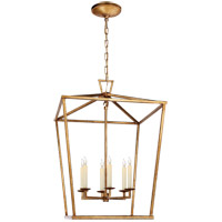 Visual Comfort E. F. Chapman Darlana 6 Light 24 inch Gilded Iron Foyer Lantern Ceiling Light, E.F. Chapman, Large CHC2176GI - Open Box  photo thumbnail