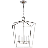 Visual Comfort E.F. Chapman Darlana 6 Light Foyer Pendant in Polished Nickel CHC2176PN - Open Box  photo thumbnail