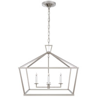 Visual Comfort E. F. Chapman Darlana 4 Light 28 inch Polished Nickel Foyer Lantern Ceiling Light, Medium Wide CHC2187PN - Open Box
