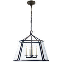 Visual Comfort E.F. Chapman Darlana 4 Light Pendant in Aged Iron with Clear Glass Shade CHC2202AI-CG - Open Box