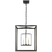 Visual Comfort E. F. Chapman Osborne 3 Light 18 inch Aged Iron with Wax Foyer Pendant Ceiling Light CHC2217AI - Open Box