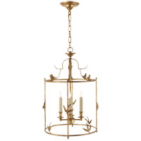 Visual Comfort E.F. Chapman Diego 4 Light Foyer Pendant in Gilded Iron with Wax CHC3108GI - Open Box
