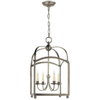 Visual Comfort E. F. Chapman Arch Top 4 Light 18 inch Antique Nickel Foyer Pendant Ceiling Light CHC3422AN - Open Box