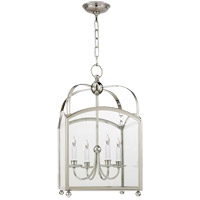 Visual Comfort E. F. Chapman Arch Top 4 Light 18 inch Polished Nickel Foyer Pendant Ceiling Light CHC3422PN - Open Box