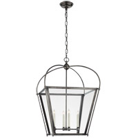 Visual Comfort E. F. Chapman Plantation 4 Light 21 inch Bronze Foyer Lantern Ceiling Light, E.F. Chapman, Medium, Clear Glass CHC3439BZ-CG - Open Box