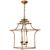 Visual Comfort E. F. Chapman Brighton 4 Light 20 inch Gilded Iron Foyer Pendant Ceiling Light CHC3444GI - Open Box