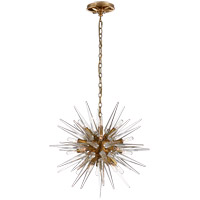 Visual Comfort E. F. Chapman Quincy 20 Light 20 inch Antique Burnished Brass Pendant Ceiling Light, E.F. Chapman, Small, Sputnik, Clear Acrylic Shade CHC5286AB-CA - Open Box