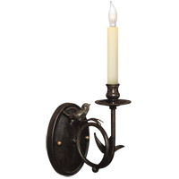 Visual Comfort E.F. Chapman Perching Bird 1 Light Decorative Wall Light in Hand Painted Rust Finish CHD1158R - Open Box