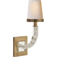 Visual Comfort E.F. Chapman Crystal 1 Light Decorative Wall Light in Antique-Burnished Brass CHD1508AB-NP - Open Box