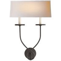 Visual Comfort R-CHD1612BZ-NP E. F. Chapman Symmetric Twist 2 Light 14 inch Bronze Decorative Wall Light CHD1612BZ-NP - Open Box