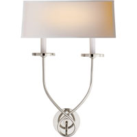 Visual Comfort E.F. Chapman Symmetric Twist 2 Light Decorative Wall Light in Polished Nickel CHD1612PN-NP - Open Box
