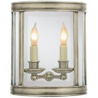 Visual Comfort E. F. Chapman Edwardian 2 Light 10 inch Antique Nickel Wall Lantern CHD2000AN - Open Box photo thumbnail