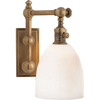 Visual Comfort Chart House Pimlico Single Light in Antique-Burnished Brass with White Glass CHD2153AB-WG - Open Box