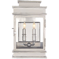 Visual Comfort E. F. Chapman Linear 2 Light 15 inch Polished Nickel Wall Lantern CHD2908PN - Open Box