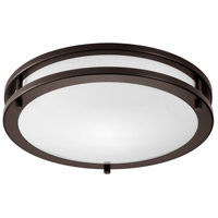 Light Visions Contemporary LED 14 inch Oil Rubbed Bronze Flush Mount Ceiling Light, 3000K, 90 CRI  CL780131 - Open Box