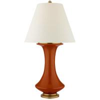 Visual Comfort R-CS3626CIN-PL Christopher Spitzmiller Nota 29 inch 100 watt Cinnabar Table Lamp Portable Light CS3626CIN-PL - Open Box