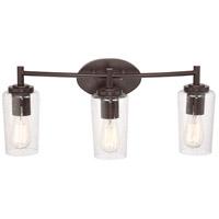 Quoizel R-EDS8603WT Edison 3 Light 23 inch Western Bronze Bath Light Wall Light EDS8603WT - Open Box