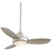 Minka-Aire Concept I 44 inch Polished Nickel with Silver Blades Ceiling Fan F516L-PN - Open Box