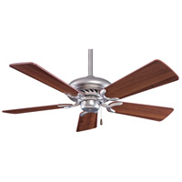 Minka-Aire Supra 44 inch Brushed Steel/Dark Walnut with Dark Walnut Blades Ceiling Fan in Brushed Steel w/ Dark Walnut F563-BS/DW - Open Box