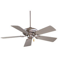 Minka-Aire Supra 44 inch Brushed Steel with Silver Blades Ceiling Fan F563-BS - Open Box